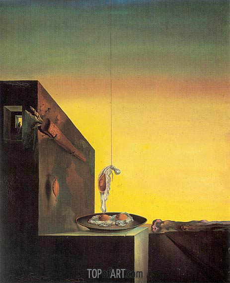 Eggs on the Plate Without the Plate, 1932 | Dali | Painting Reproduction