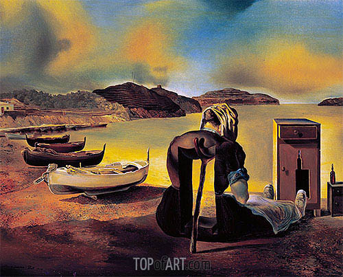 Weaning of Furniture Nutrition, 1934 | Dali | Painting Reproduction