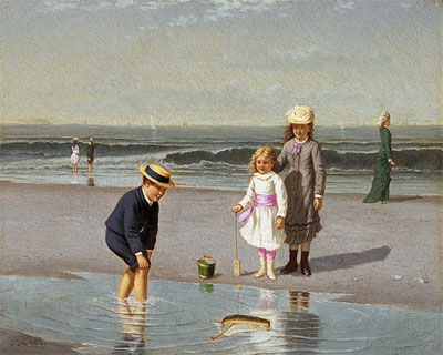 Children on the Beach, c.1879/81 | Samuel Carr | Painting Reproduction