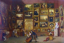 Gallery of the Louvre, c.1831/33 by Samuel Morse | Painting Reproduction