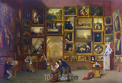 Gallery of the Louvre, c.1831/33 | Samuel Morse | Painting Reproduction