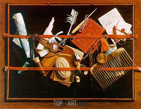 Hoogstraten | Trompe l'oeil (Pinboard), Letter Board, c.1666/78