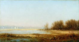 Marshes of the Hudson, 1878 by Sanford Robinson Gifford | Painting Reproduction