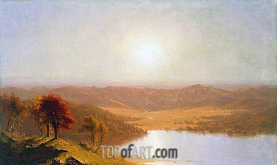 A View from the Berkshire Hills, near Pittsfield, Massachusetts, 1863 | Sanford Robinson Gifford| Painting Reproduction