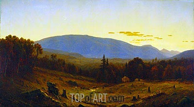 Hunter Mountain, Twilight, 1866 | Sanford Robinson Gifford | Gemälde Reproduktion