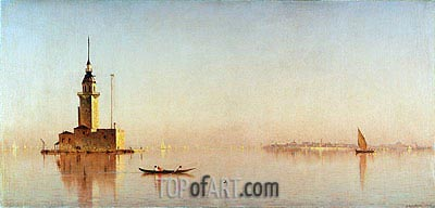 Leander's Tower on the Bosporus, 1876 | Sanford Robinson Gifford | Gemälde Reproduktion