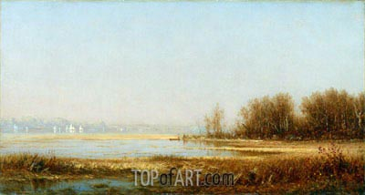 Sanford Robinson Gifford | Marshes of the Hudson, 1878