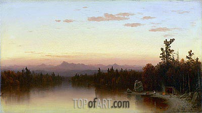 Twilight in the Adirondacks, 1864 | Sanford Robinson Gifford| Gemälde Reproduktion