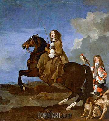 Christina of Sweden on Horseback, undated | Sebastien Bourdon | Gemälde Reproduktion