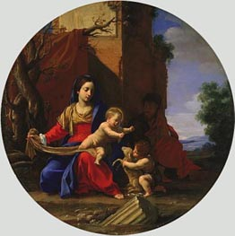 Holy Family with the Infant Saint John the Baptist, 1626 by Simon Vouet | Painting Reproduction