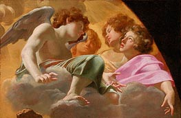 Model for Altarpiece in St. Peter's, 1625 by Simon Vouet | Painting Reproduction