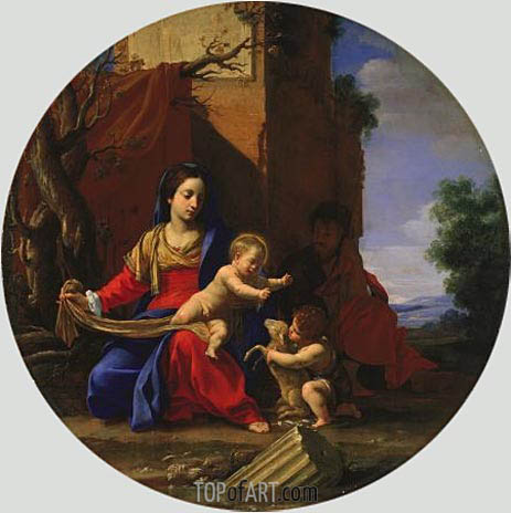 Holy Family with the Infant Saint John the Baptist, 1626 | Simon Vouet | Painting Reproduction