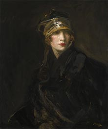 The Gold Turban, 1929 von Sir John Lavery | Gemälde-Reproduktion