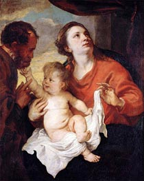 Holy Family, c.1626/28 by van Dyck | Painting Reproduction