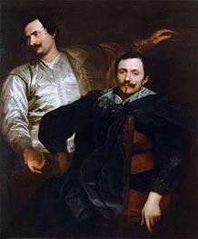 Porträts der Maler Lucas und Cornelis de Wael | van Dyck | Gemälde Reproduktion