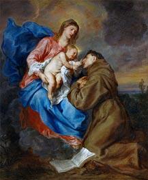 Jungfrau und Kind mit St. Antonius von Padua | van Dyck | Gemälde Reproduktion
