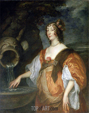 van Dyck   Portrait of Lucy Percy, Countess of Carlisle, c.1637/40