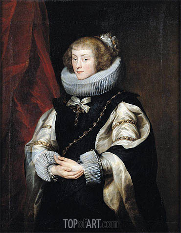 Portrait of Princess Marie de Barbancon, Duchess of Arenberg, c.1625/32 | van Dyck | Painting Reproduction