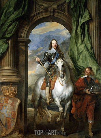 Charles I with M. de St Antoine, 1633 | van Dyck | Painting Reproduction
