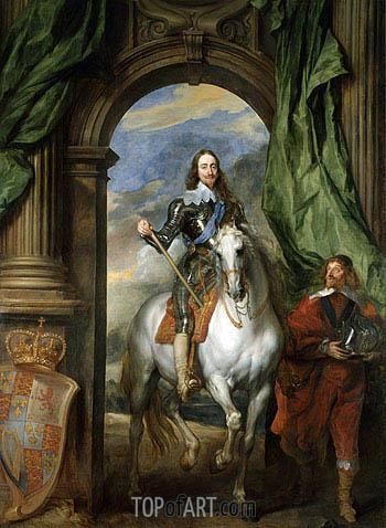 van Dyck | Charles I mit M. de St Antoine, 1633