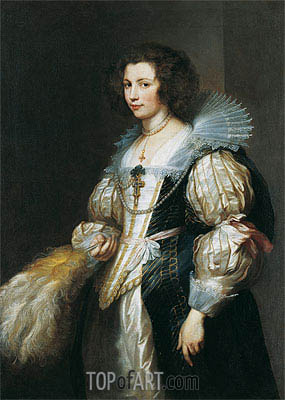 Portrait of Maria Louisa de Tassis, c.1629/30 | van Dyck| Painting Reproduction