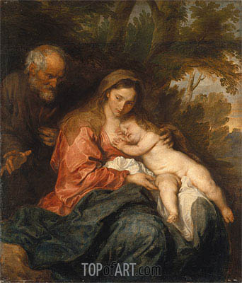 Rest on the Flight into Egypt, c.1627/32 | van Dyck| Painting Reproduction