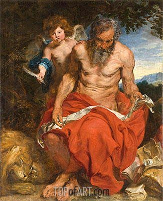 St Jerome, c.1618/20 | van Dyck | Painting Reproduction