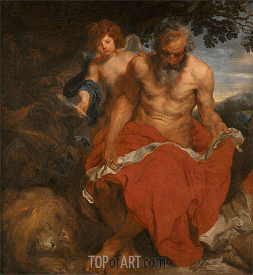 St Jerome,  | van Dyck| Painting Reproduction