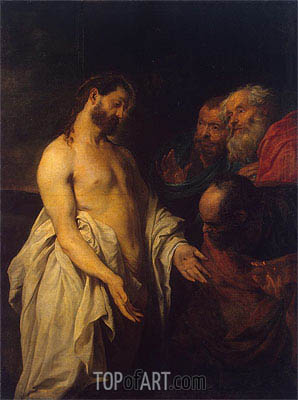 van Dyck | Appearance of Christ to his Disciples, c.1625/26