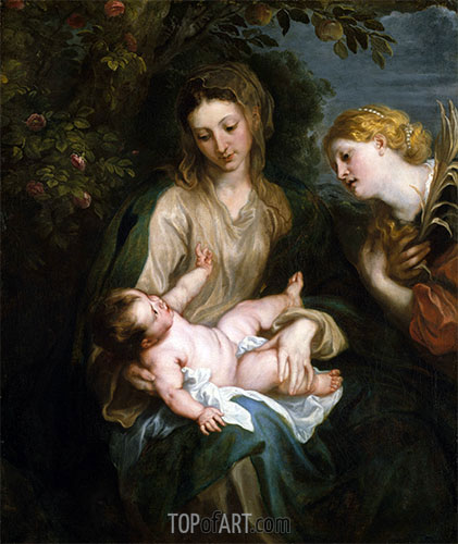 van Dyck | Virgin and Child with Saint Catherine of Alexandria, undated