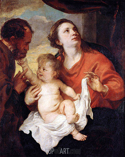 Holy Family, c.1626/28 | van Dyck | Painting Reproduction