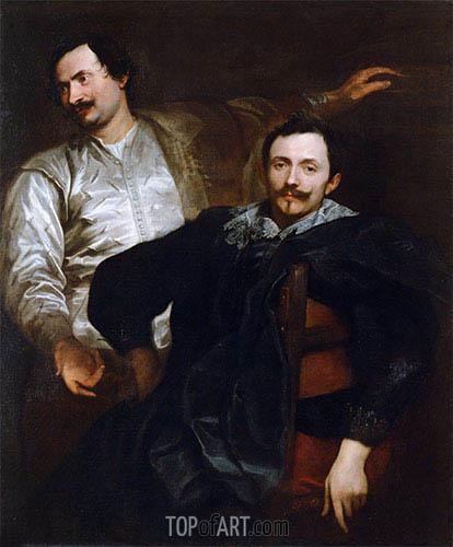 Porträts der Maler Lucas und Cornelis de Wael, c.1627 | van Dyck | Gemälde Reproduktion