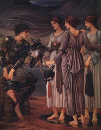 The Arming of Perseus, c.1885/88 by Burne-Jones | Painting Reproduction