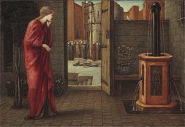 Danae Watching the Building of the Brazen Tower | Burne-Jones | Painting Reproduction