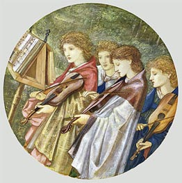 The Musicians, undated by Burne-Jones | Painting Reproduction