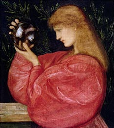 Astrologia, 1865 by Burne-Jones | Painting Reproduction