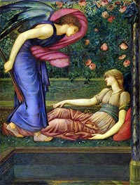 Cupid and Psyche, c.1865/87 by Burne-Jones | Painting Reproduction