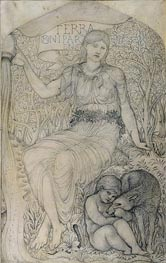 Earth, Undated by Burne-Jones | Painting Reproduction