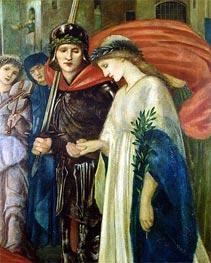 St. George and the Dragon: The Return (Detail), 1866 by Burne-Jones | Painting Reproduction