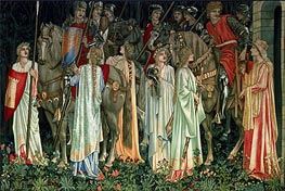 The Arming and Departure of the Knights, c.1895/96 by Burne-Jones | Painting Reproduction