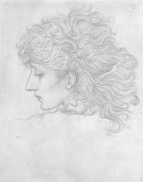Head of a Young Woman, Profile | Burne-Jones | outdated