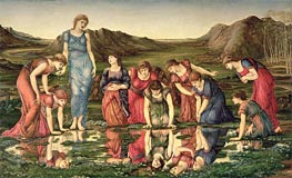The Mirror of Venus, c.1870/76 by Burne-Jones | Painting Reproduction