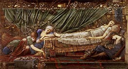 The Briar Rose - The Sleeping Beauty, c.1870/90 by Burne-Jones | Painting Reproduction