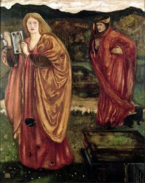 Merlin and Nimue | Burne-Jones | outdated
