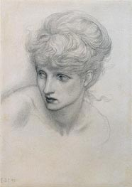 Study of a Girl's Head, 1875 by Burne-Jones | Painting Reproduction