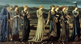 The Wedding of Psyche, c.1894/95 by Burne-Jones | Painting Reproduction