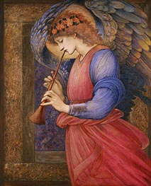 Angel Playing a Flageolet, 1878 by Burne-Jones | Painting Reproduction