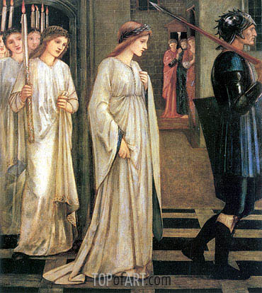 The Princess Sabra Led to the Dragon, 1866 | Burne-Jones| Painting Reproduction