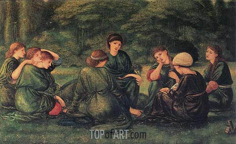 Burne-Jones | Green Summer, 1868