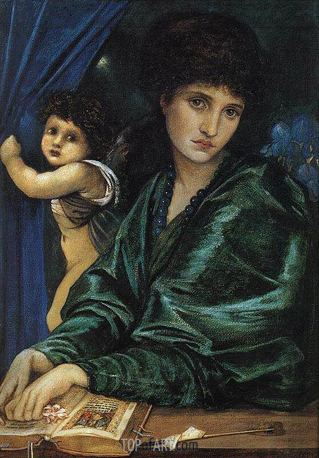 Portrait of Maria Zambaco, 1870 | Burne-Jones| Gemälde Reproduktion